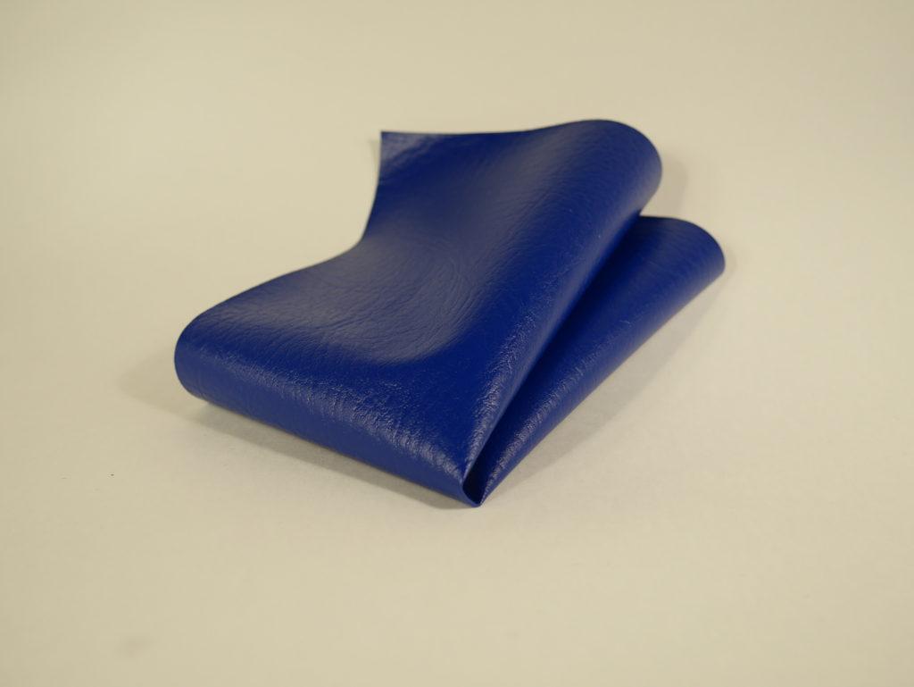 Спортивная искусственная кожа, цвет синий
